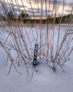 Cassette Tape in Snow Sunset
