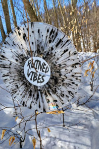 Ruined Vibes Clear Vinyl Black Splatter Hanging Tree