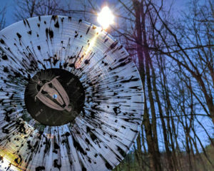 Clear Record Black Splatter Sunlight